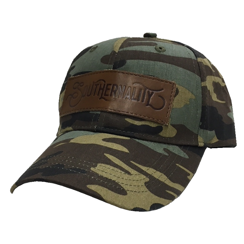 A Thousand Horses Camo w/ Leather Patch Ballcap