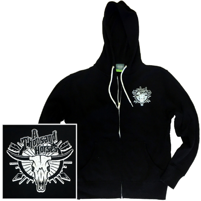 A Thousand Horses Black Zip Up Hoodie