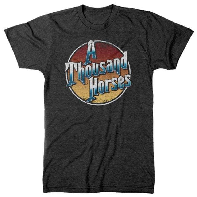 A Thousand Horses Dark Heather Grey Logo Tee