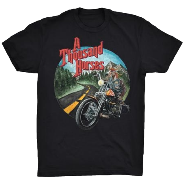 A Thousand Horses Black Motorcycle Tee