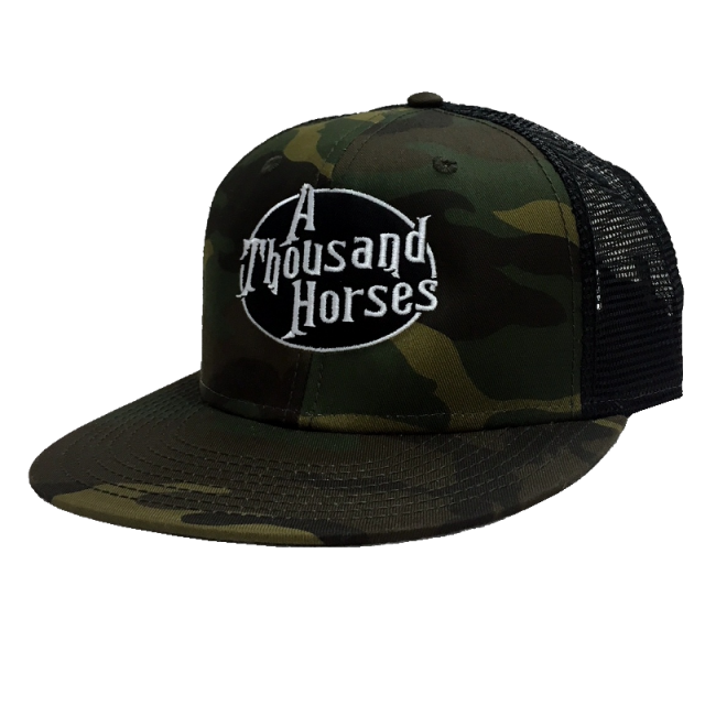 A Thousand Horses Camo and Black Snapback
